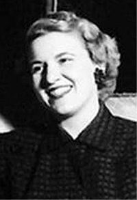Barack Obama's grandmother Madelyn Dunham at about the time she lived in Ponca City. This photo may  have been taken a year or two after Madelyn Dunham left Ponca City. Photo:  Wikipedia